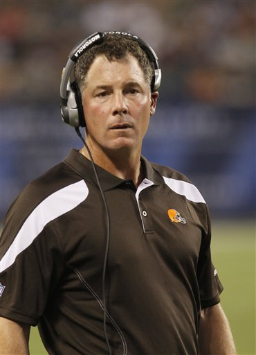 As Expected: Browns Coach Pat Shurmur and GM Tom Heckert