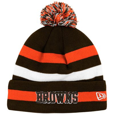 Win a Browns New Era Navy Sport 2012 Player Sideline Cuffed Kni…