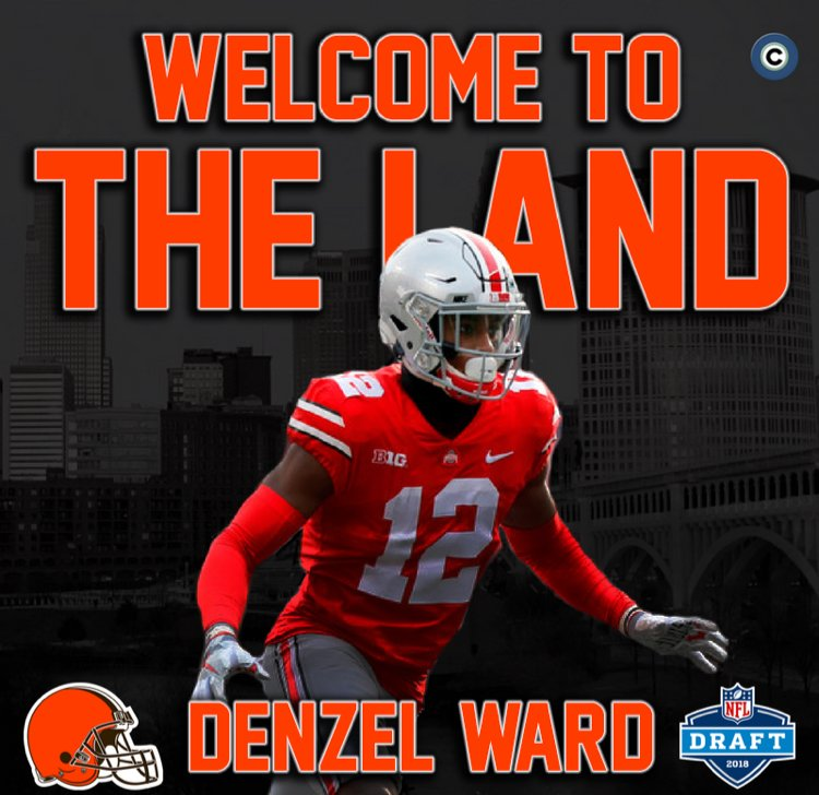 Browns Select Ohio State CB Denzel Ward with Fourth Overall Pick